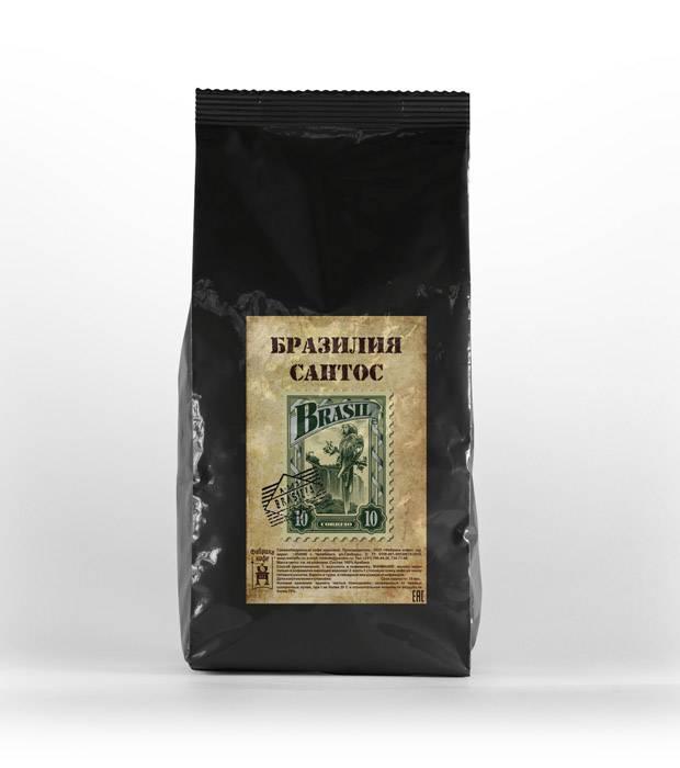 Кофе бразилия арабика сантос серрадо 17/18 (brazil cerrado santos), фасовка 1000 гр.