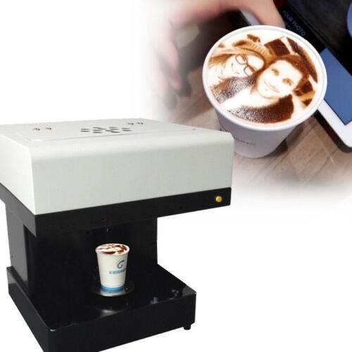 Как работает принтер для печати на кофе