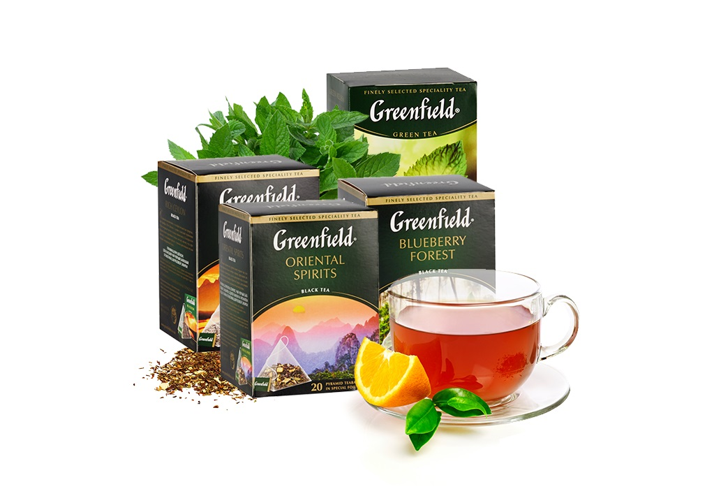 Чай гринфилд: ассортимент