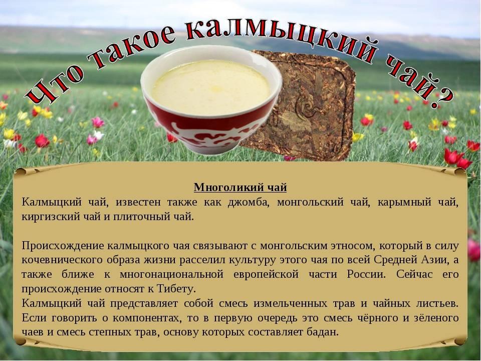 Калмыцкий чай: рецепт приготовления, польза и вред, как заваривать, состав