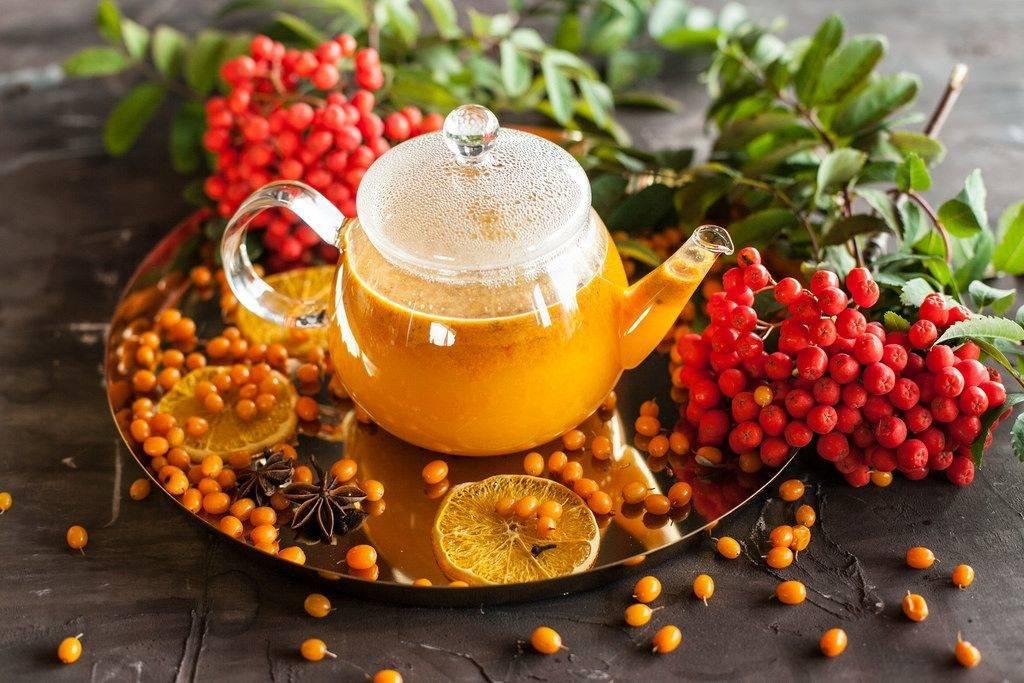 """Чай с облепихой - рецепт с апельсином и """"как в якитории"""""""