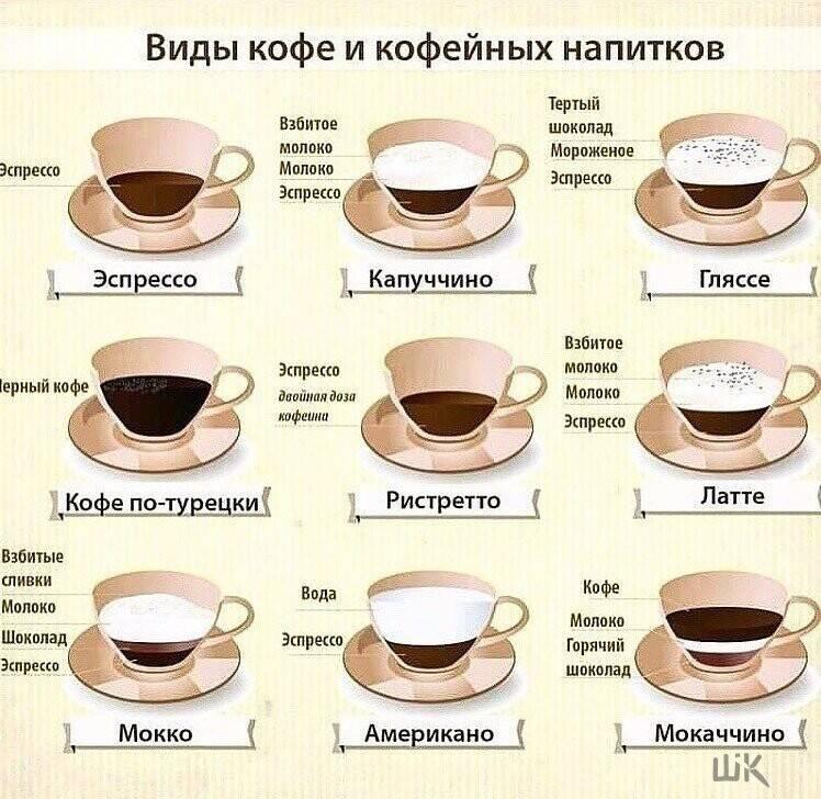 Кофе и кофейные напитки: обзор видов