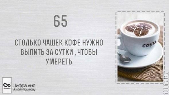 Смертельная доза кофе для человека, влияние на организм в целом