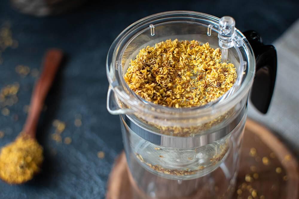 Османтус: полезные свойства и рецепт с зеленым чаем