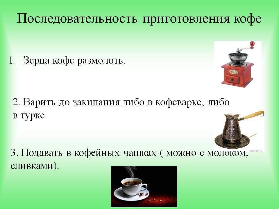 Кофейные напитки: названия, виды, типы, состав и описание