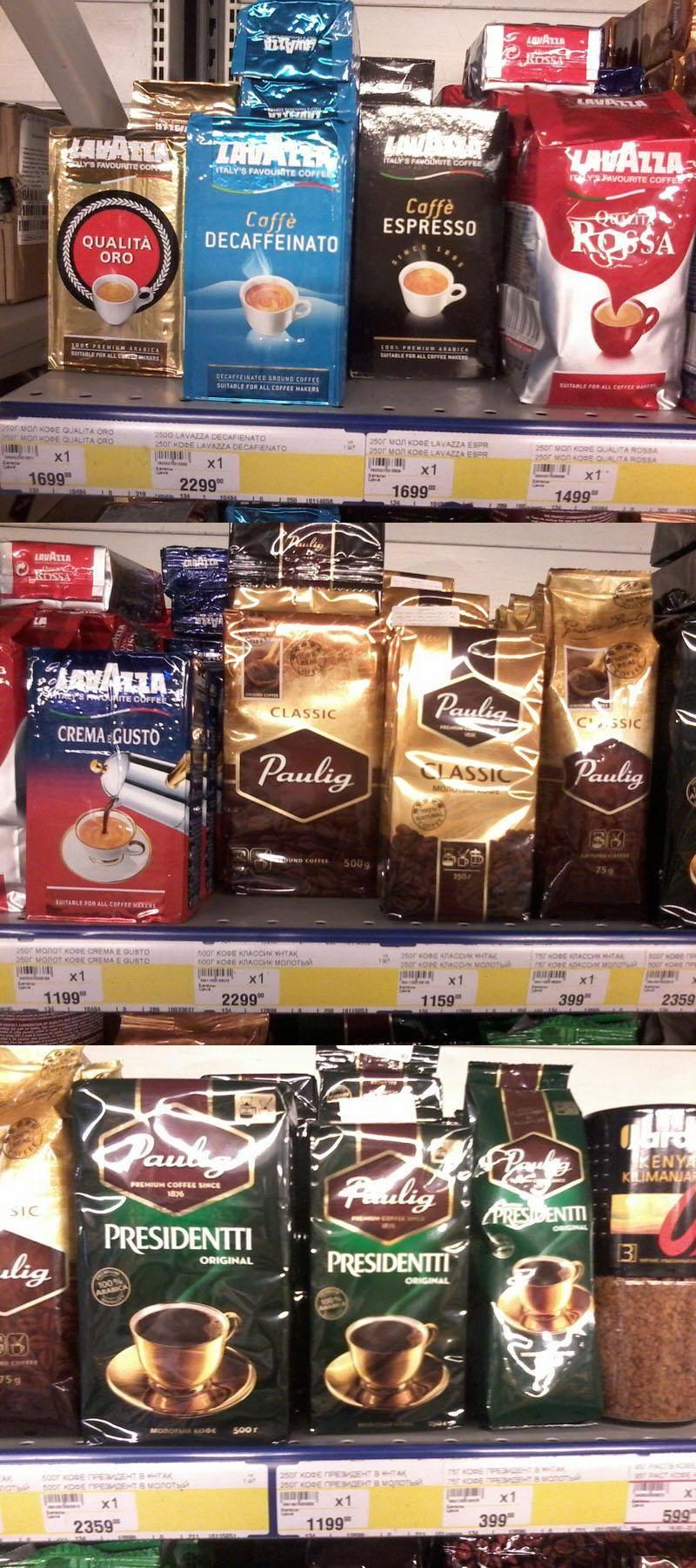 Рейтинг молотого кофе по странам-производителям и маркам