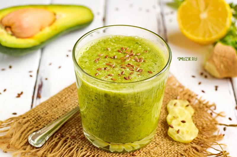 Смузи с авокадо и свежим огурцом: рецепт с фото пошагово