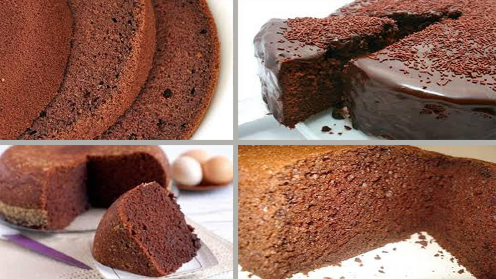 3 рецепта шоколадного бисквита для торта: с какао, шоколадом и на кипятке