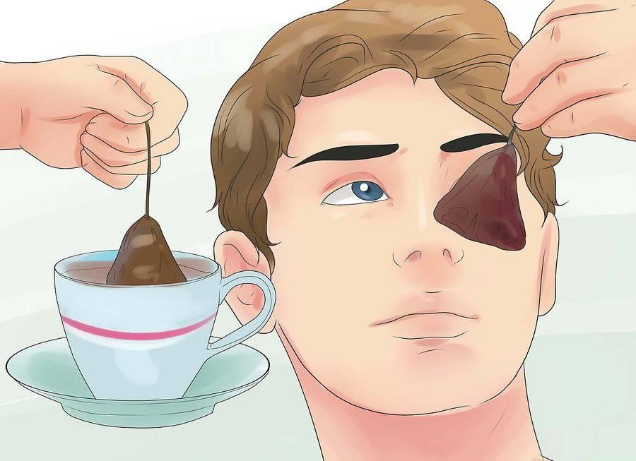 Примочки из чая для глаз при аллергии