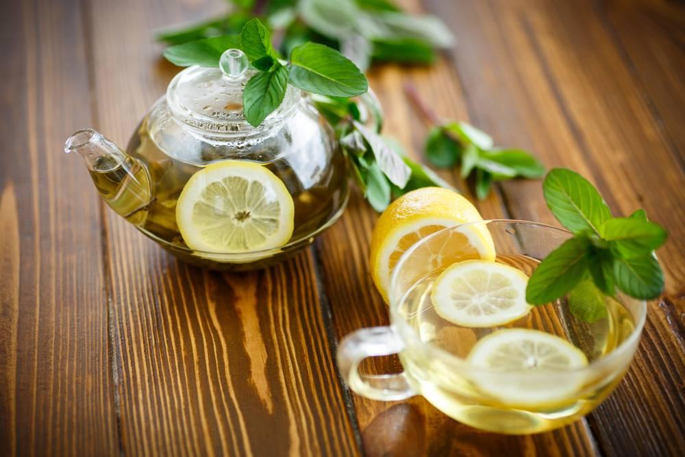 Польза и вред зелёного и черного чая с лимоном