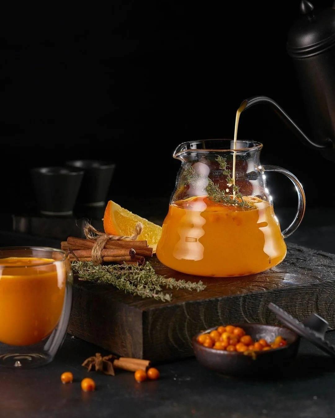 Облепиховый чай: лучшие рецепты, польза и вред, секреты приготовления