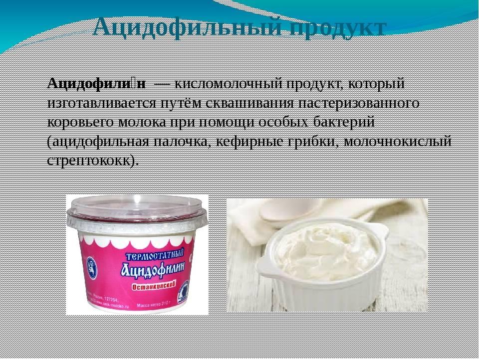 Ацидофилин: польза и вред, состав и порцион, хранение и правила употребления