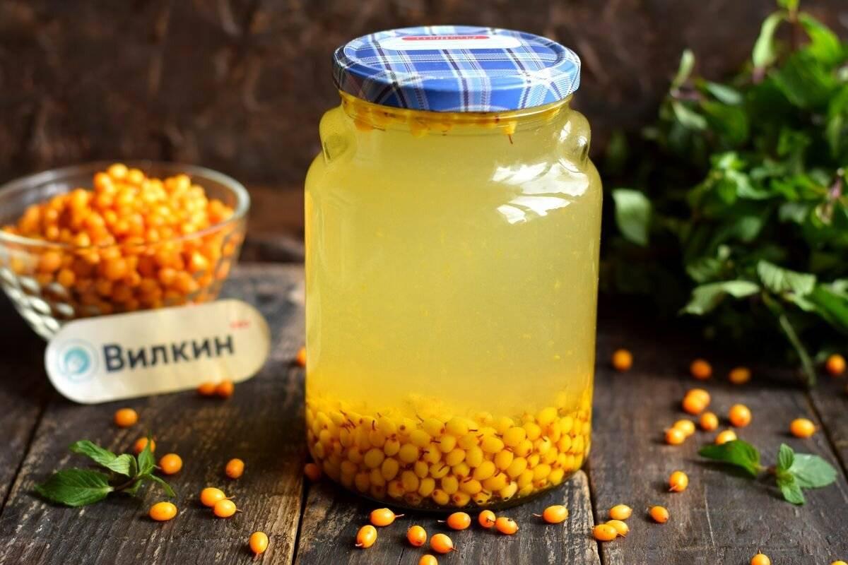 Морс из облепихи - полезные свойства и рецепты из замороженной и свежей ягоды