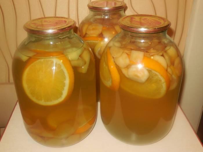 Апельсиновый компот — пошаговый рецепт с фото