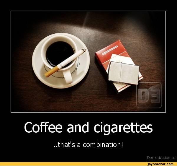Насколько вредно сочетание кофе и сигарет, мнение медиков