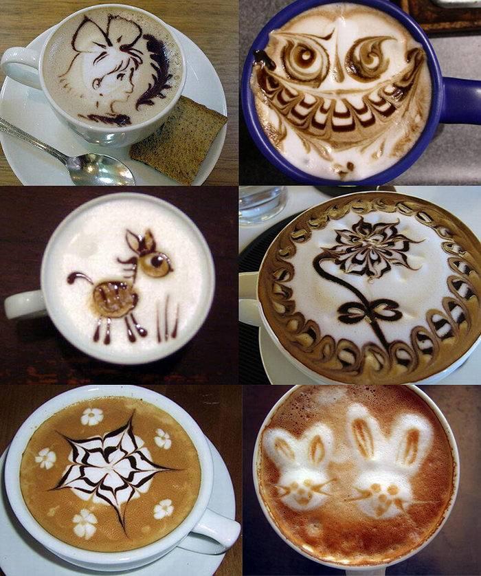 Как приготовить кофе с рисунком в домашних условиях