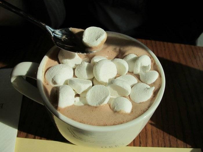 Рецепт кофе с зефирками   портал о кофе