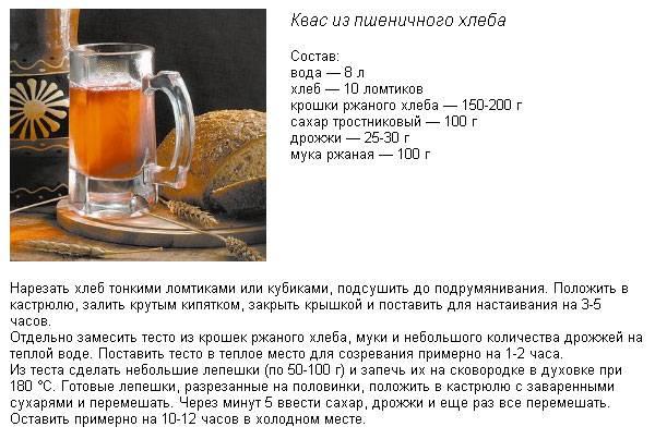 Домашний квас 11 секретов рецептов из российских запасников