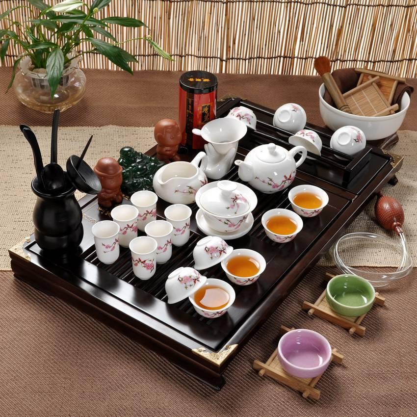 Чайный сервиз на 6,12,17 персон: количество предметов