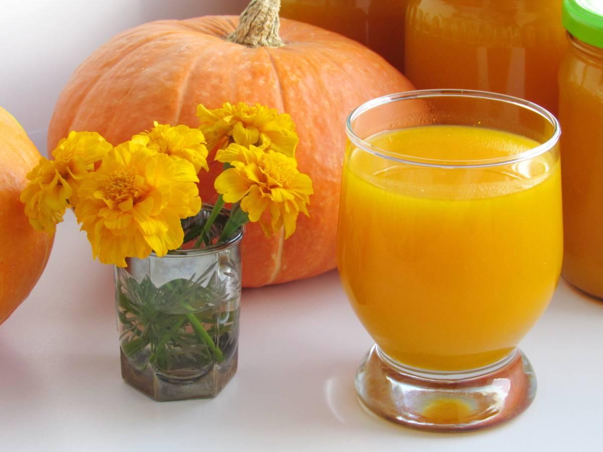 Сок из тыквы: лечебные свойства и противопоказания для взрослых и детей, рецепты приготовления
