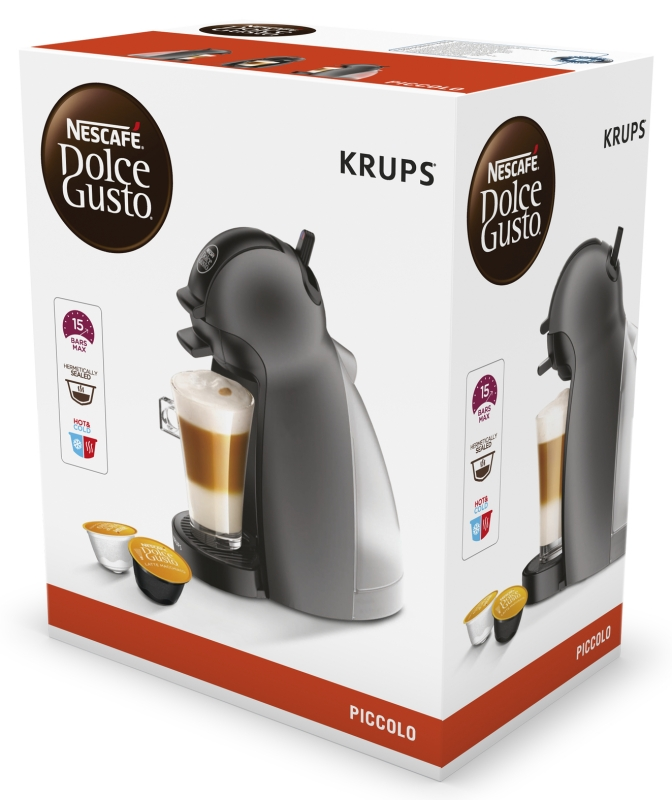 Капсульная кофеварка krups piccolo серая — цена, купить в москве