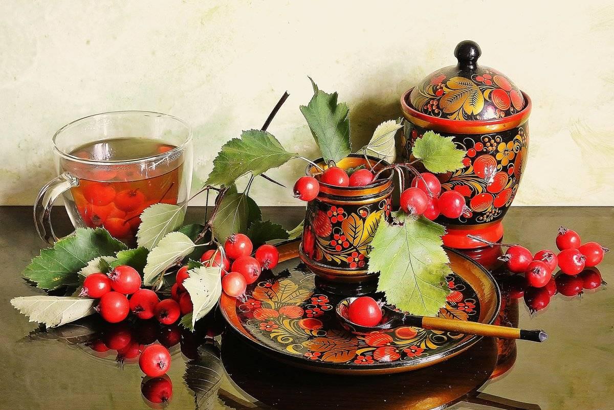 Сердечный чай из боярышника