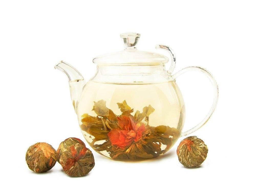Связанный (распускающий цветок) чай