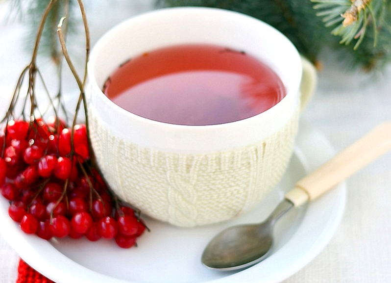 Чай с калиной – напиток для тех, кто заботится о своем здоровье