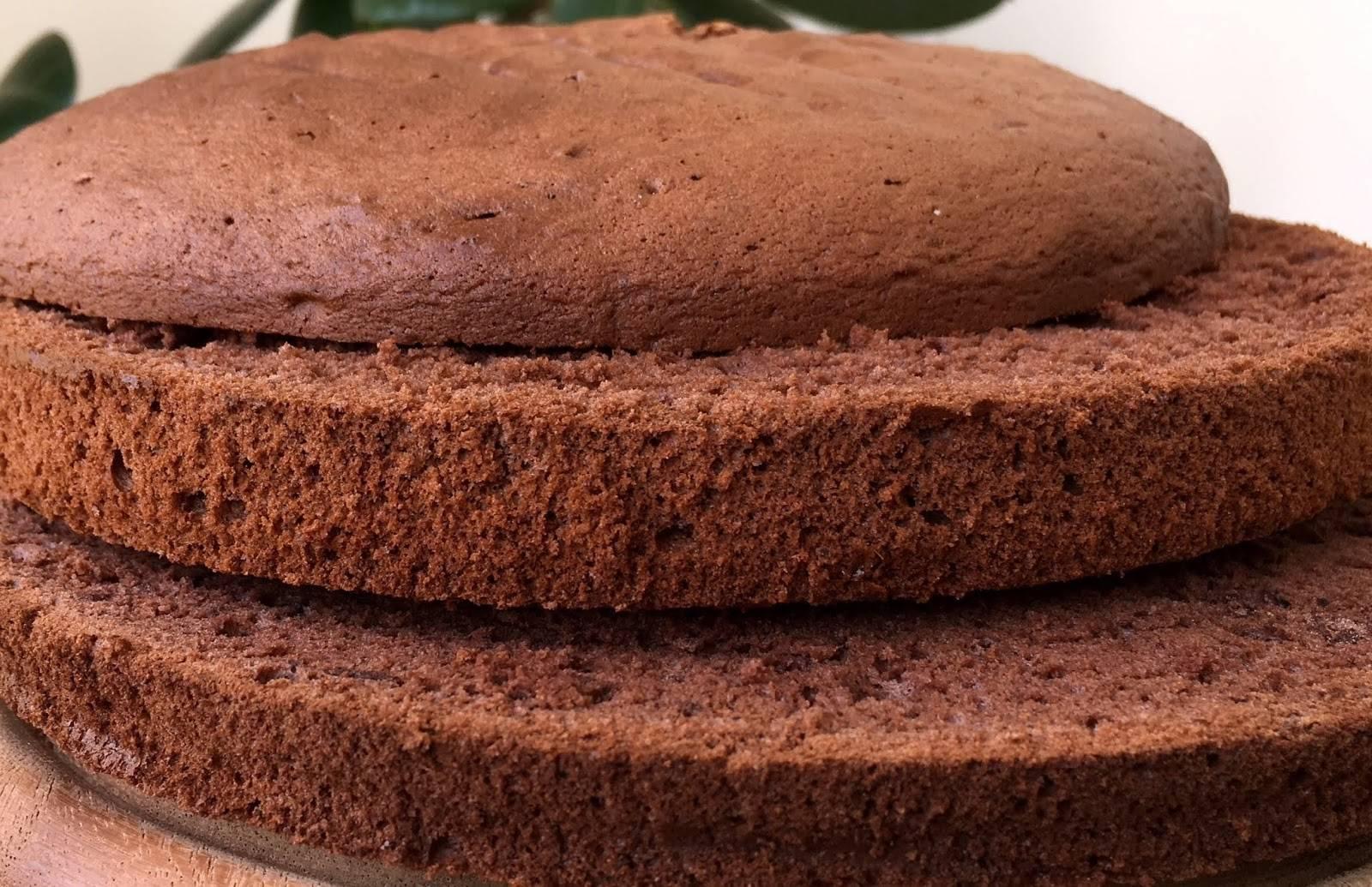 Шоколадный бисквит на кефире – рецепт