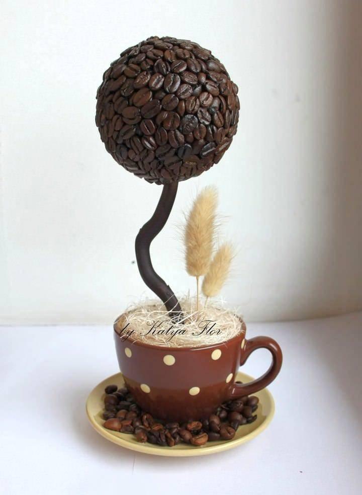 Кофейный топиарий своими руками - пошаговая инструкция как сделать топиарий (145 фото идей)