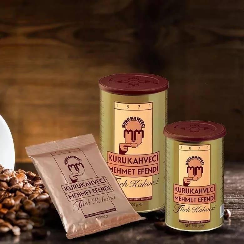 Турецкий кофе kurukahveci mehmet efendi (мехмет эфенди): ассортимент, как варить, особенности