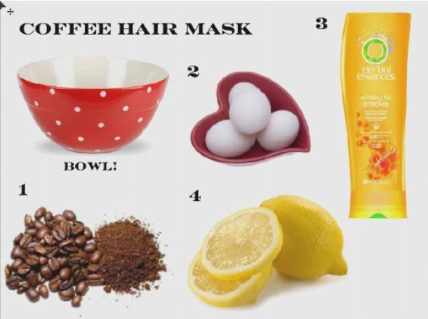 » варианты кофейных масок для волос