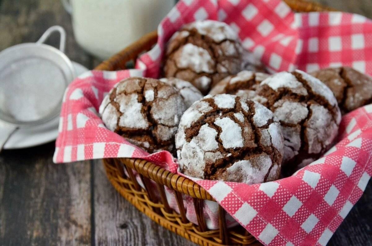 Печенье шоколадное: пошаговый рецепт с фото