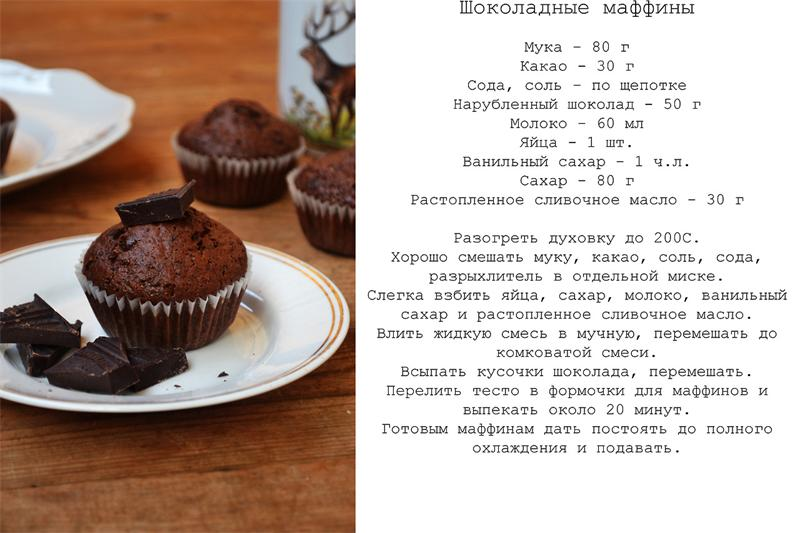 Шоколадные маффины: лучшие рецепты с фото и этапы приготовления