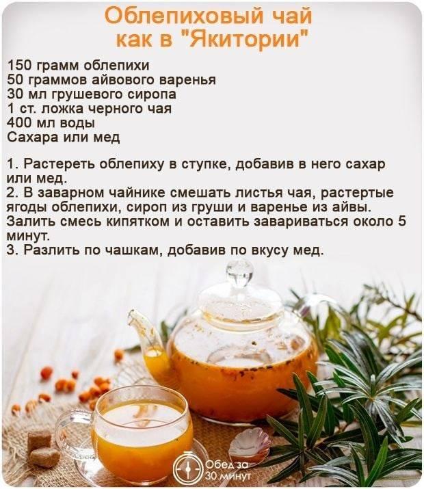 Чай из облепихи: польза и рецепты