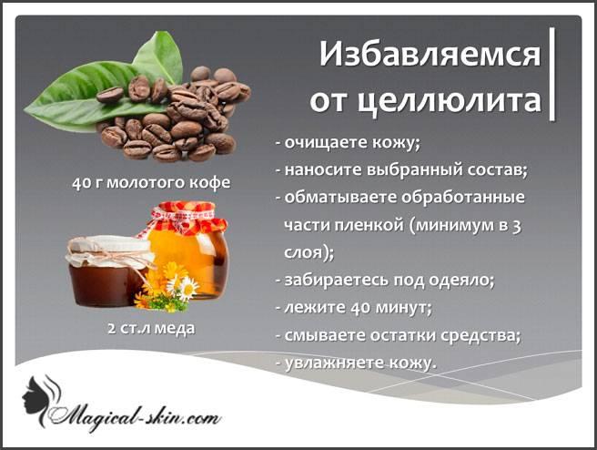 Домашнее кофейное обертывание для похудения: рецепты от целлюлита