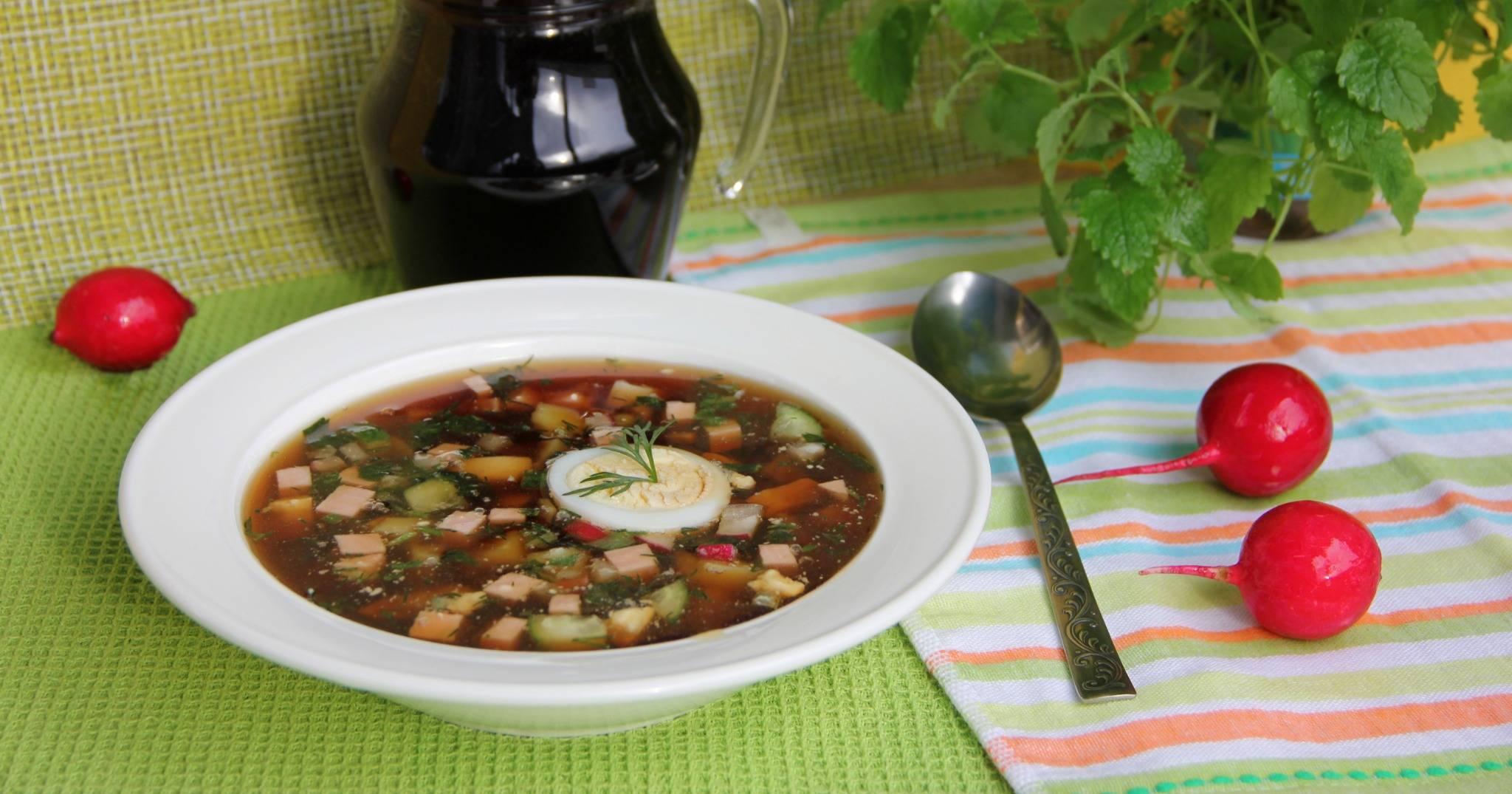 Окрошка на квасе с колбасой: классические рецепты вкусной окрошки