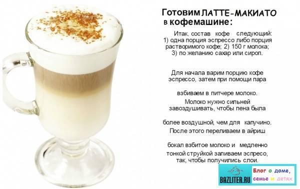 Состав кофе мокачино и рецепты приготовления
