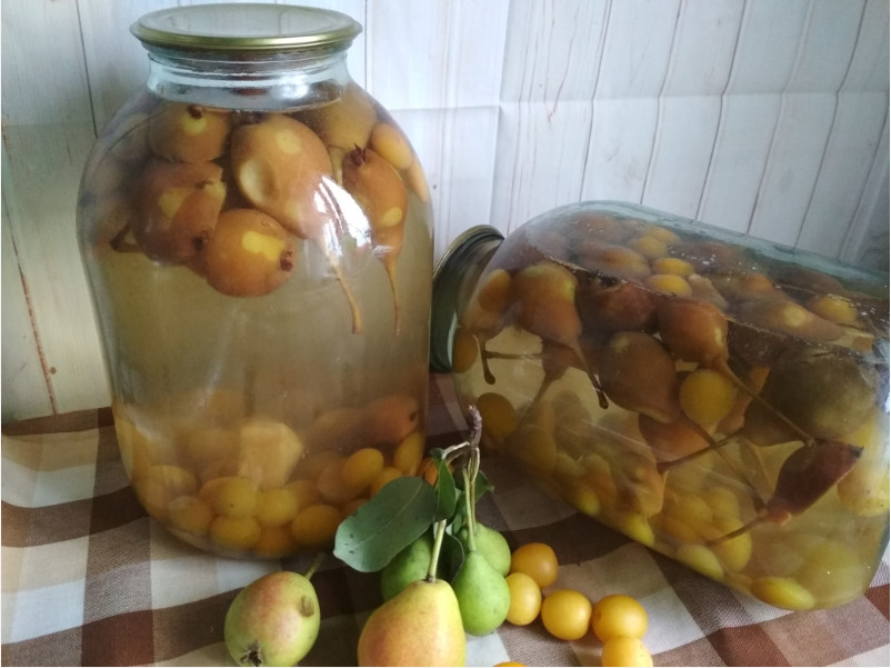 Топ 10 рецептов компота из груш с лимонной кислотой и без на зиму, со стерилизацией и без