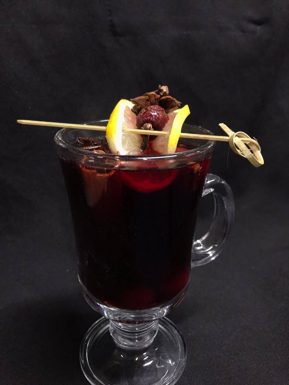 Глинтвейны с вишневым, виноградным и другими соками