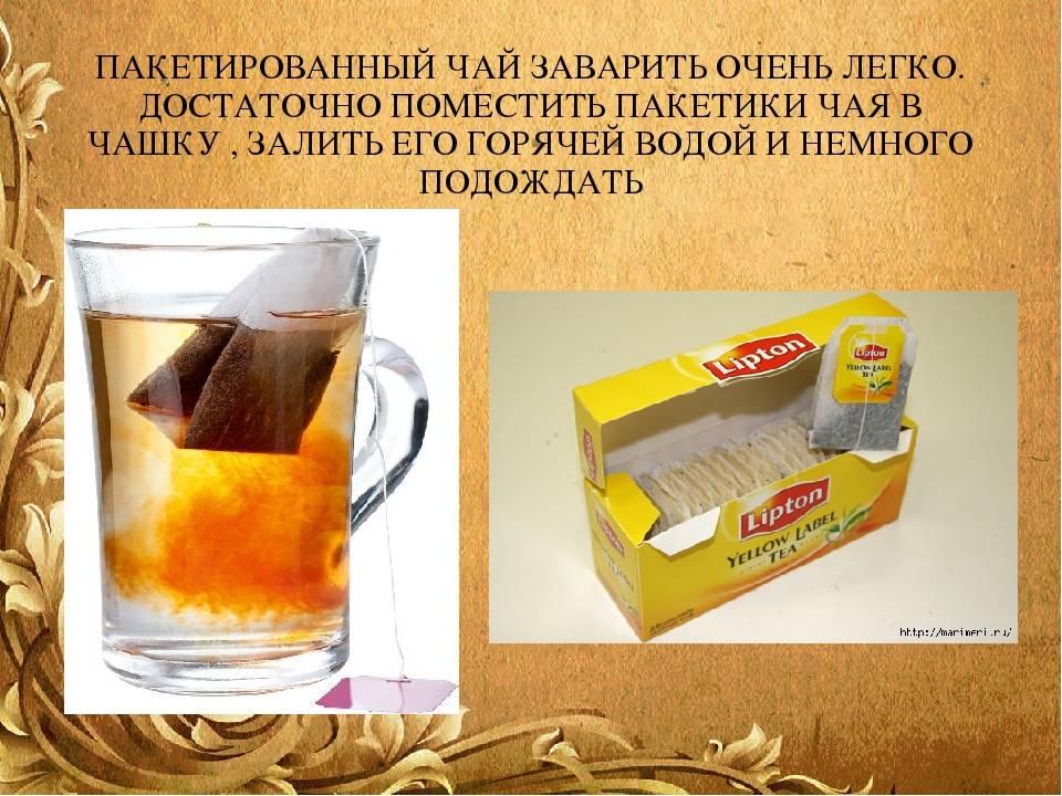 Чай в пакетиках: польза и вред, как определить качественный напиток