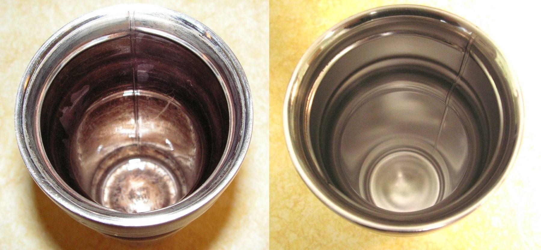Как очистить термос из нержавейки внутри от чайного налета