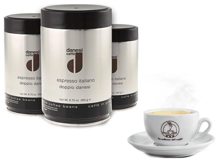 Кофе в зернах danesi espresso emerald 1 кг — цена, купить в москве