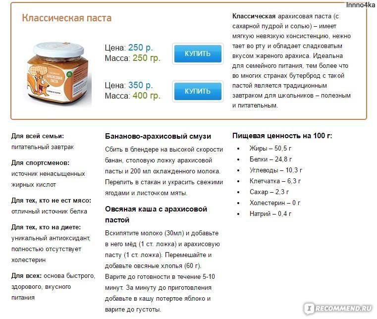 Арахисовая паста: польза, вред, как приготовить, рецепты