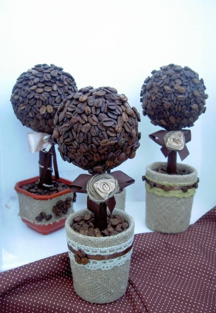 Красивый кофейный топиарий: инструкция по созданию