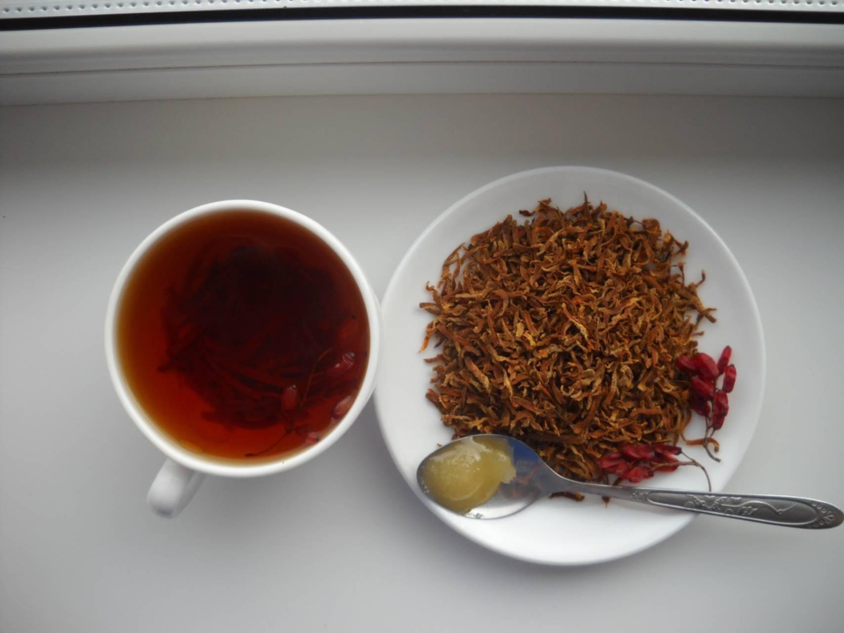 Витаминный чай из моркови