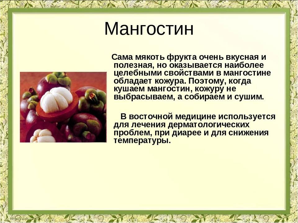 Мангустин: полезные свойства и противопоказания