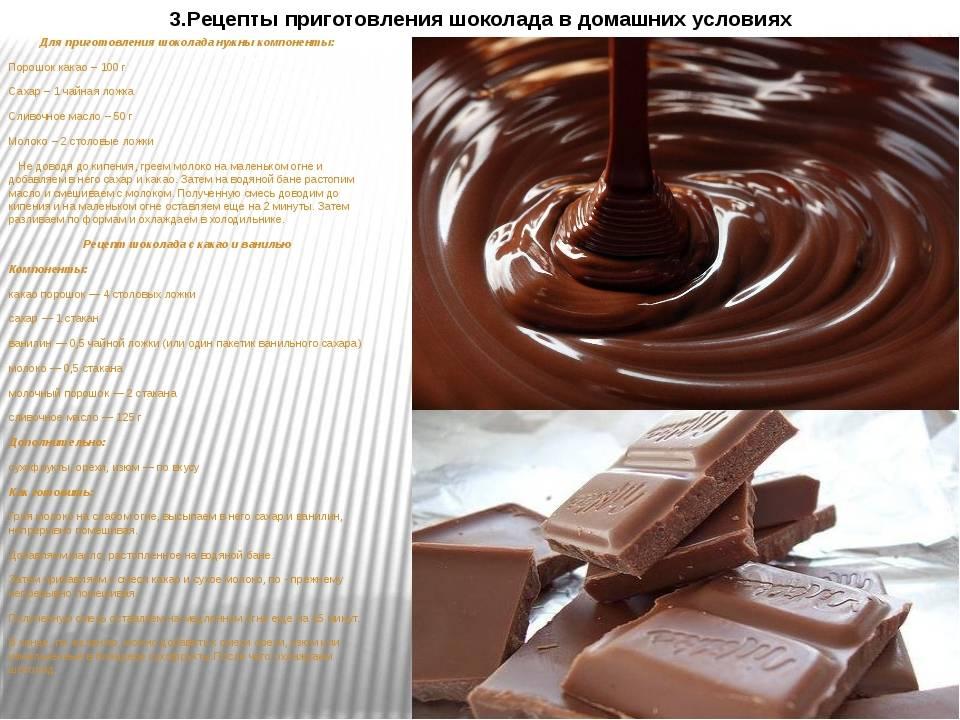 Домашний шоколад: рецепты пошагово