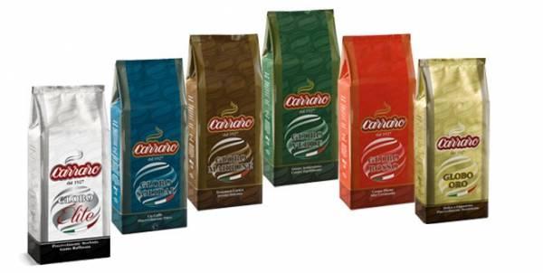 Кофе carraro в зернах 1/250гр «carraro arabica» 100% м/у х 24