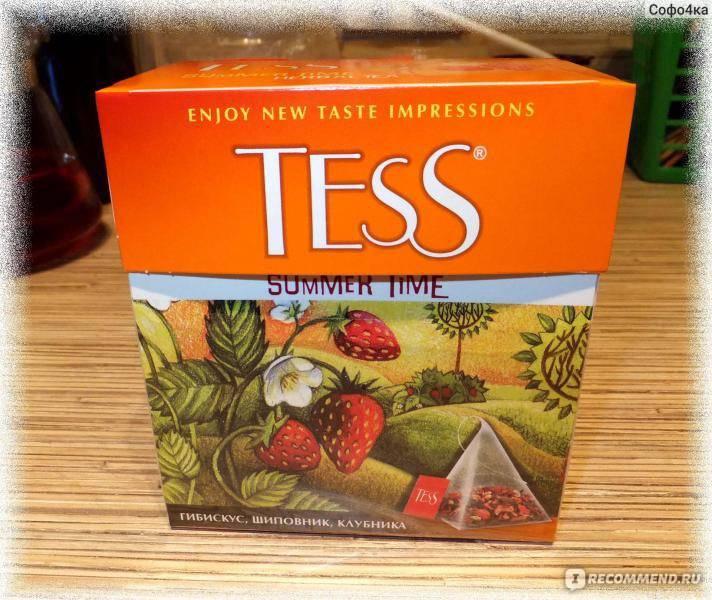 Подробное описание ассортимента чая Тесс (Tess) от традиционного зеленого до напитка с гибискусом
